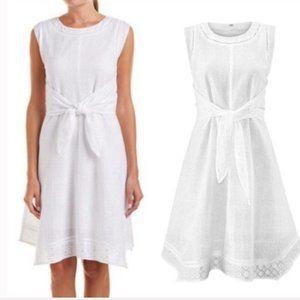 Cabi #5106 White Eyelet Lizzie Dress